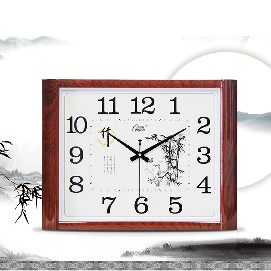 Large Creative 3d Glass Chinese Wall Clock Modern Design Silent Square Sticker Kids Clock Klok Wall Clocks Home Decor 50CW377