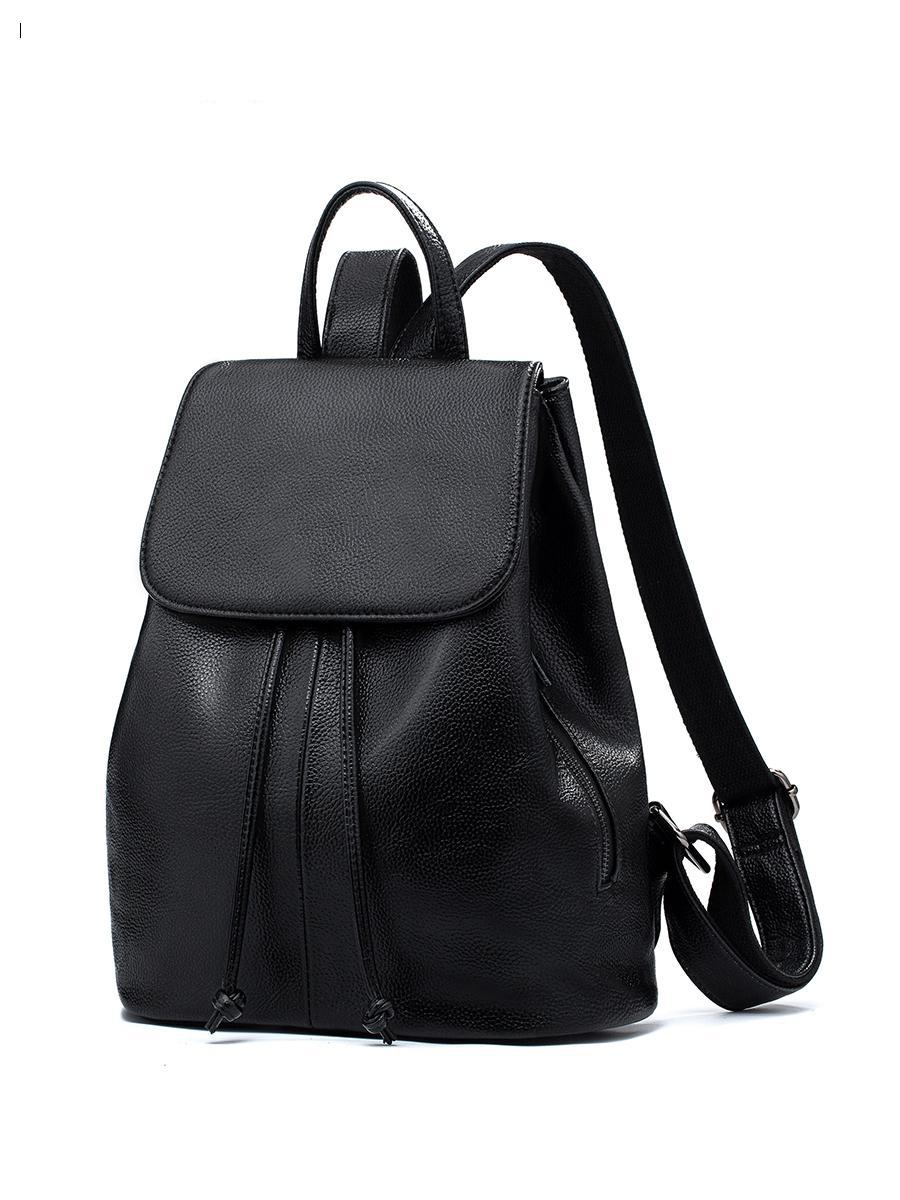 Leather Shoulder Bag Women 2018 New Fashion Head Skin Cowboy Travel Korean Version Hack Leisure Soft Backpack hack
