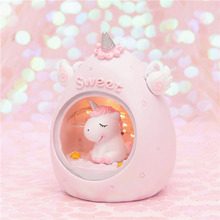 Children's Night Light Cute Unicorn Decorative Lights For Kids Christmas Gifts Desk Lamp Table Bedroom Cartoon Room Home Decor