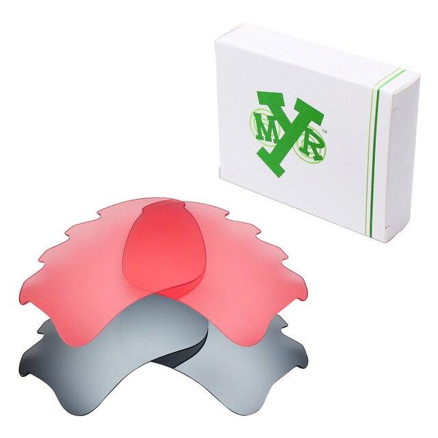 2 Pairs MRY Замену Линзы для Oakley Бронежилет Xlj Вентилируемый Солнцезащитные Очки Серебро Титан & HD Розовый