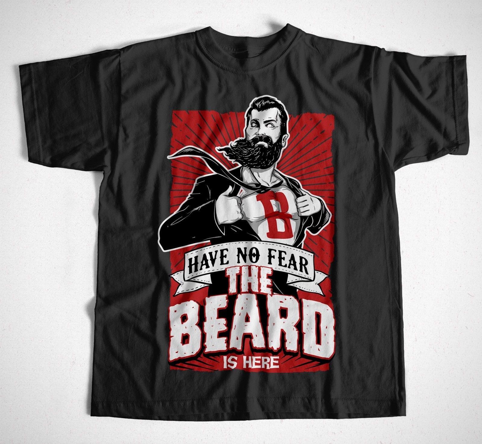 T-Shirt The Beard is Here Bart Friseur Ombre Sombrero Barber Barbier Shop Harajuku Pokemon Shirt Top Tee