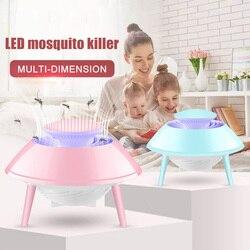 Gorące piękne domowe urządzenie przeciw komarom lampa przeciwko komarom USB zasilany LED wyciszenie muchy robaki Dispeller HY99
