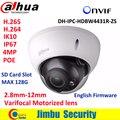 Dahua 4MP IP купольная Камера 2.8 мм ~ 12 мм с переменным фокусным расстоянием моторизованный объектив H2.65 IR50M с слот для Карты sd POE сетевая камера IPC-HDBW4431R-ZS