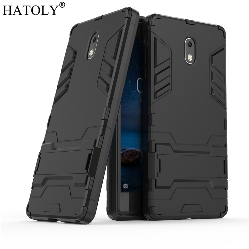 HATOLY For Armor <font><b>Case</b></font> <font><b>Nokia</b></font> <font><b>3</b></font> <font><b>Case</b></font> Shockproof Robot Silicone Rubber Hard Back Phone Cover For <font><b>Nokia</b></font> <font><b>3</b></font> TA-1020 TA-<font><b>1032</b></font> Fundas image