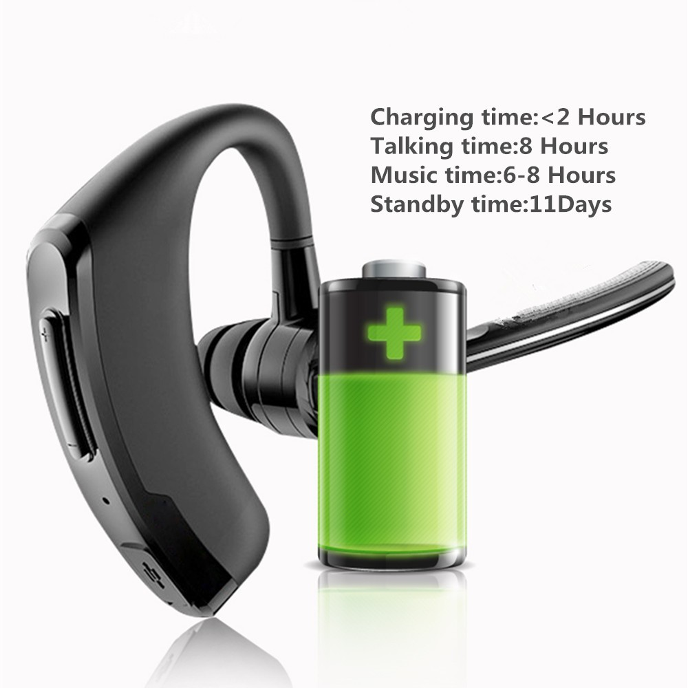 Handsfree business bluetooth headset with mic sweatproof voice control headphone for sports driving  noise cancelling earphone (12)