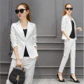 Pant Suits Women Business Formal Office Uniform Style New 2016 Elegant  Womens Suits Blazer With Pants Work Wear for Ladies
