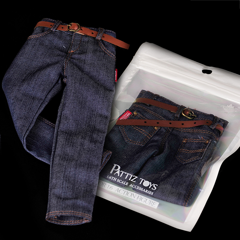1:6 <font><b>1/6</b></font> <font><b>Scale</b></font> <font><b>Male</b></font> Action Figure Dressup Accessories Mini Classic Jeans Accessories for Soldier Military Model Modified <font><b>Clothes</b></font> image