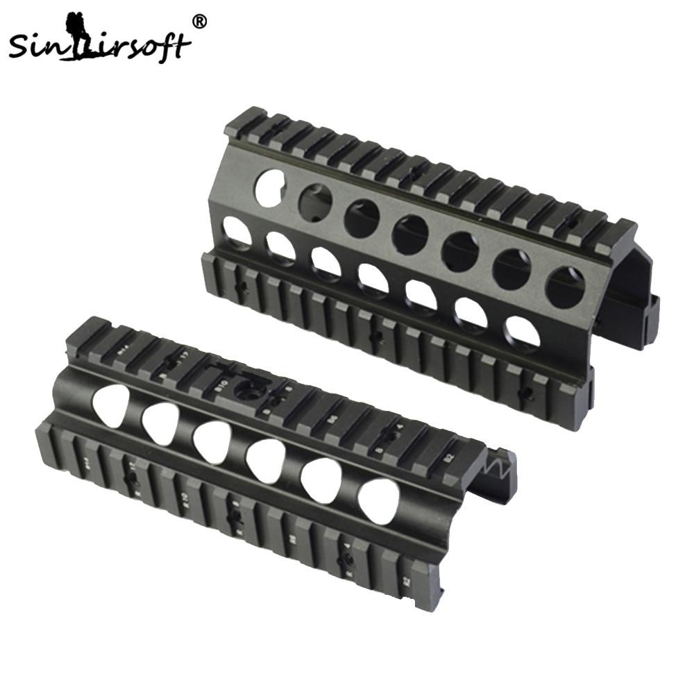 Sinairsoft Aluminum CNC M249 Lower Upper Scope Mount Handguard 6pcs RIS Rails System Hunting Shooting Tactical