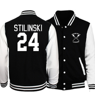 Hoodies Men Baseball Jackets 2017 Spring Autumn Wolf Teen Stilinski 24 S T A R Labs