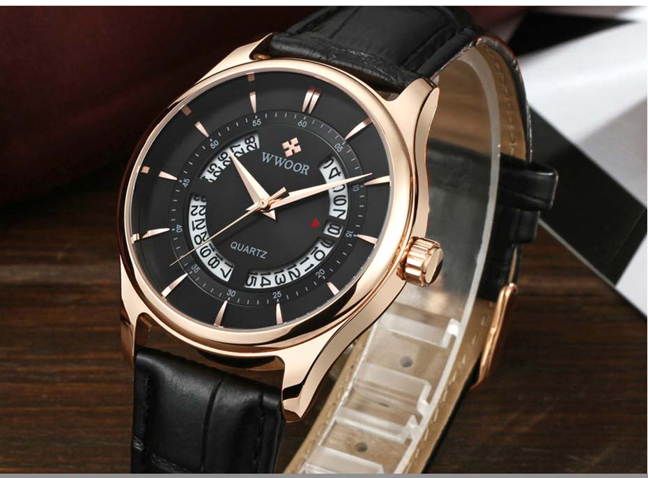 New Quartz Mens Watches Top Brand Luxury Complete Calendar Men\'s Wrist Watch Genuine Leather Strap Men Wristwatches  2019 (2)