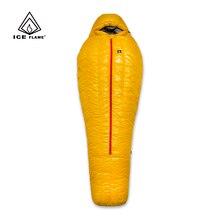 氷炎20D超軽量キャンプミイラ90% ホワイトダックダウン寝袋3シーズンハイキング700FP ykkジッパー