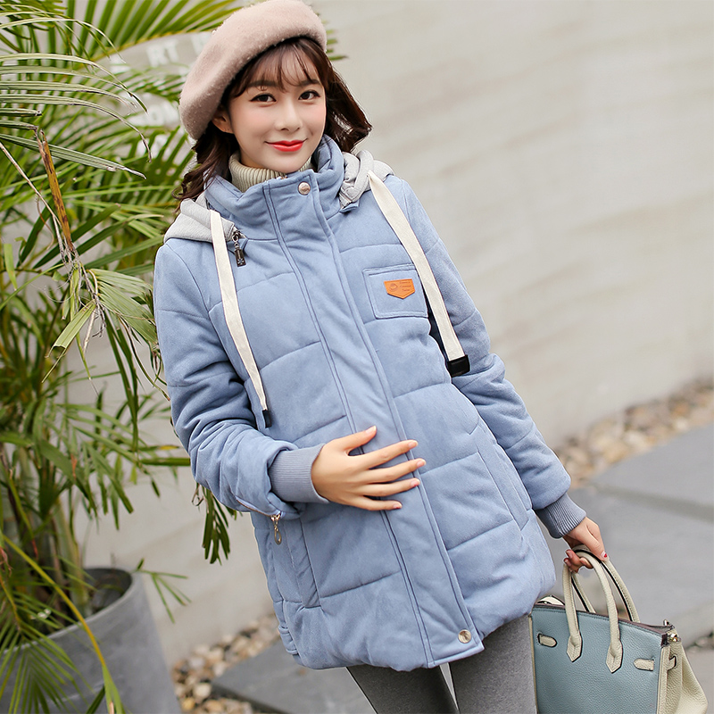 Jacket for pregnant New stely fashion maternity dress women winter warm pregnant women coat maternity clothes new stely fashion loose pure color cloak jacket clothes for pregnant women coat