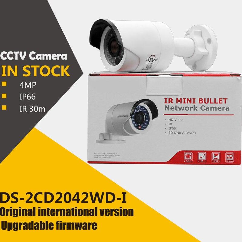 bilder für Auf lager ursprüngliche englisch version DS-2CD2042WD-I 4MP IR Gewehrkugel-netzwerkkamera poe ip-kamera