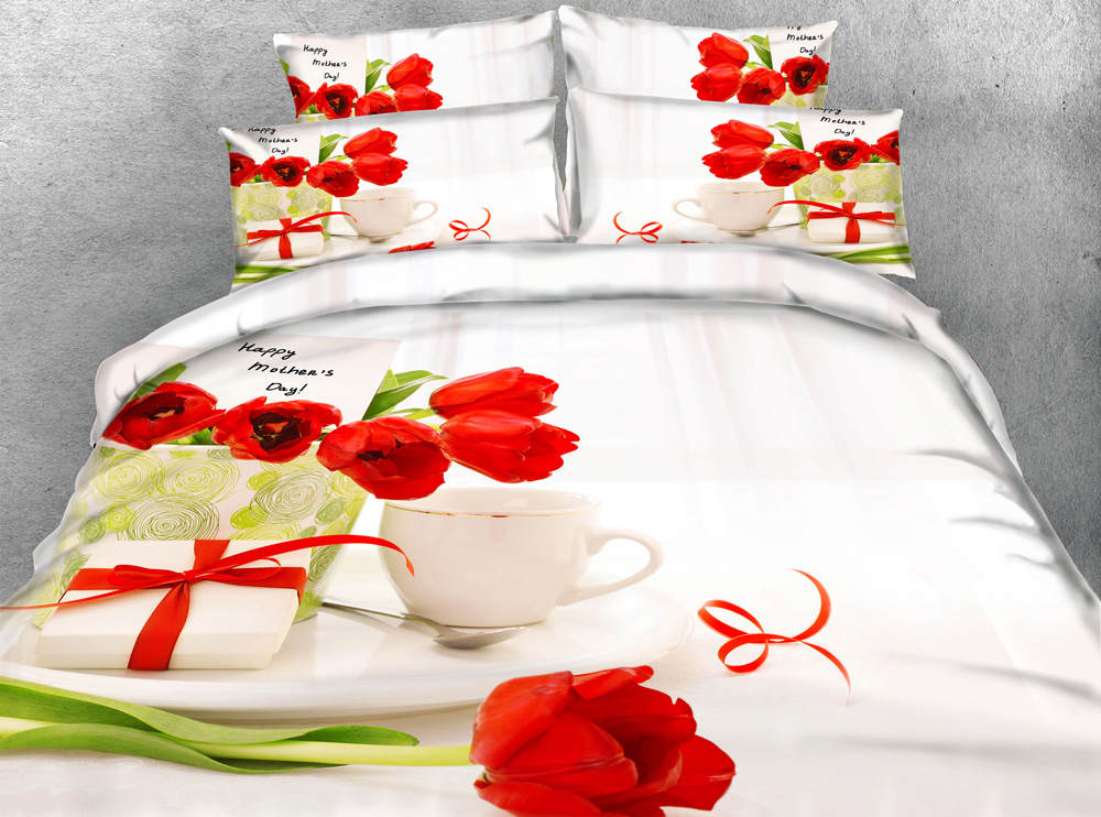 3d printed comforter bedding set quilt/duvet covers bedspreads twin full queen king size 500TC woven happy mothers day red rose3d printed comforter bedding set quilt/duvet covers bedspreads twin full queen king size 500TC woven happy mothers day red rose