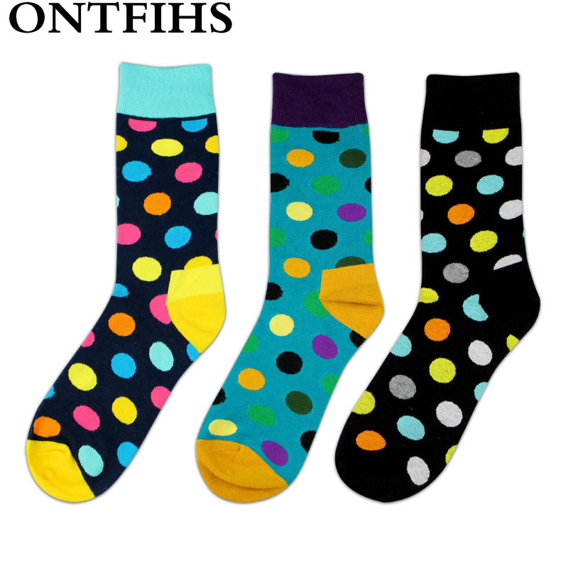 3 pairs/Lot Happy Sock Gradient Colors New Cotton Men Women Socks Autumn Winter Fashion Young Man Sock Funny H-15