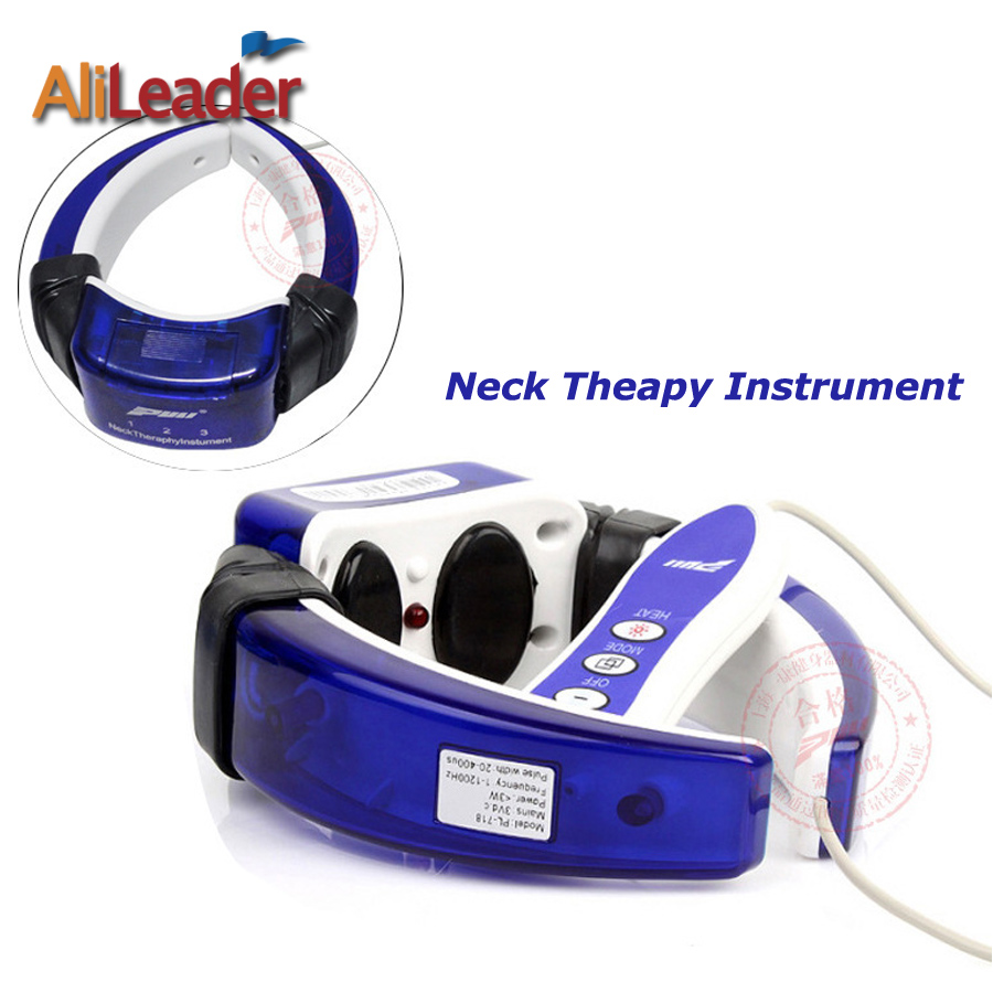 Alileader Hot Selling Electric Neck Massager Magnetic Cervical Therapy Instrument Far Infrared Electronic Patch Massage Device 2017 hot sale mini electric massager digital pulse therapy muscle full body massager silver