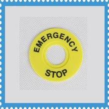 100pcs 22mm  Push Button Switch Emergency Stop Warning Ring outer diameter 60mm