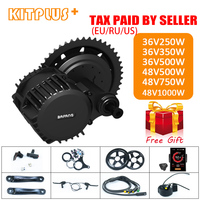 Bafang BBS01 BBS02 BBS03/BBSHD Mid Drive Motor 36V 250W/350W/500W 48V 500W/750W/1000W Electric Bicycle/Bike Ebike Conversion Kit