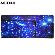 Customizable Large Gaming Mouse Pad Starry Sky 400x900mm Desk Keyboard Mat PC Computer Laptop Mousepad Rug for CS GO dota 2 lol pu leather large gaming mouse pad front back double use mouse mat keyboard pad desk pad for games lol dota 2 cs go