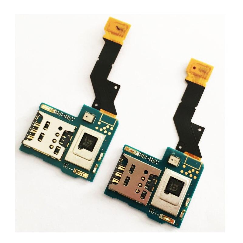 New SIM Card Reader Holder Slot Flex Ribbon For Sony Xperia Acros S LT26i LT26 Sim Cards Adapters