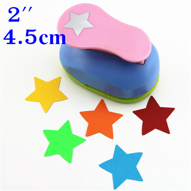 Free Shipping Star Shaped Hole Punches 2'' Craft Punch Paper Cutter Scrapbook Child Craft Tool Embosser Kid S2935-8 Puncher