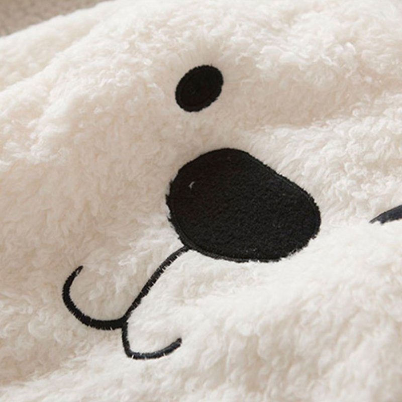 17 New Arrival Autumn winter models Children Baby Clothing Boys Girls Lovely Bear Furry White Coat Thick Sweater Warm Coat 4