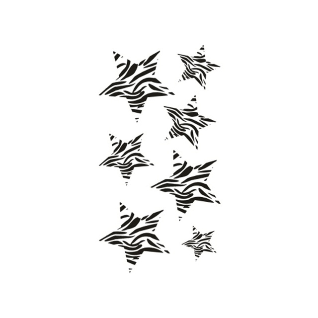 New Hot Étanche Temporaire Tatouage Autocollants pour Adultes Enfants Corps  Art Zèbre Rayures Étoile à Cinq