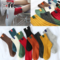 (6Pairs/lot)High quality Women Socks Winter Thermal Warm Ladies Casual Stripe Solid Socks Female 10 Colors Cotton Women's Socks