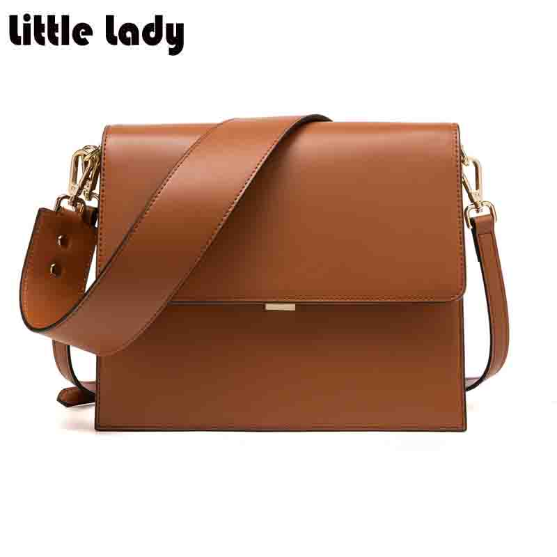 Women Messenger Bags 2017 New Famous Brand Desinger Pleated Shoulder Bags for Woman Wide Strap High Quality Sac