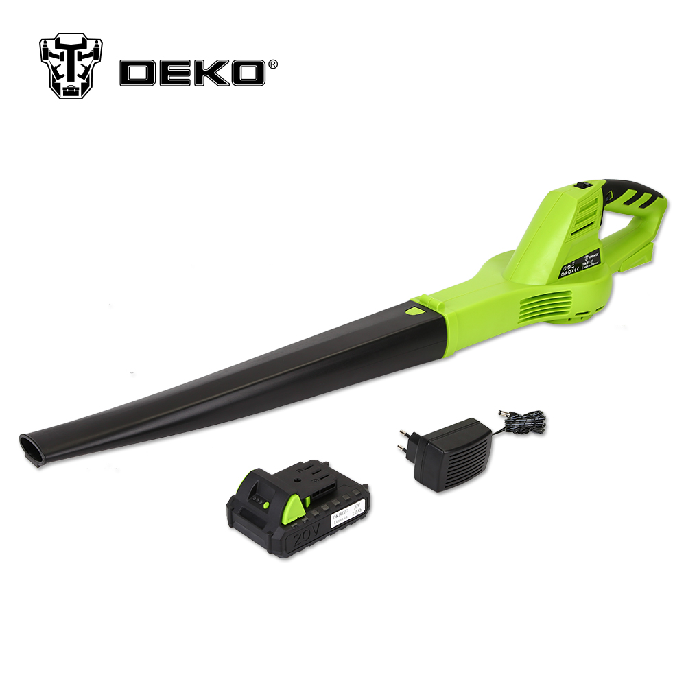 DEKO DKBL05 20V Lithium 2000mAh Cordless Leaf Blower with Battery Pack Electric Garden Tools силиконовый чехол с рамкой для samsung galaxy j5 prime on5 2016 df scase 37 gold