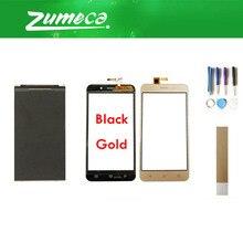 ЖК-маркировка: 15-22211-3259-2 для Vertex Impress Luck ЖК-дисплей + сенсорный экран дигитайзер черный золотой цвет с лентой и инструментом