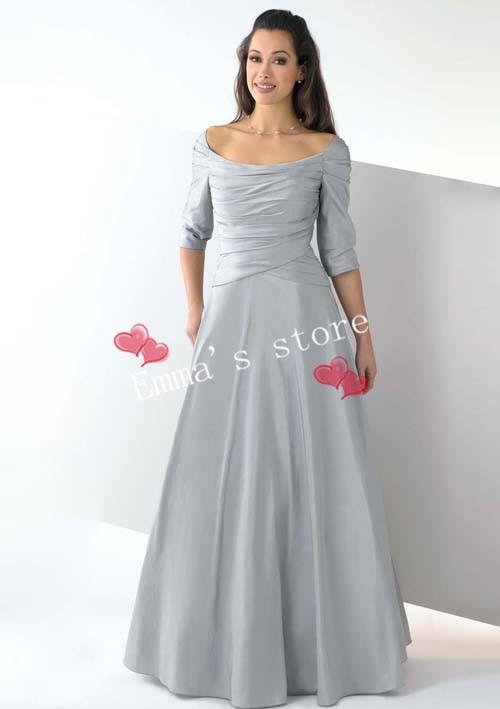 Длинные платья из тафты