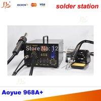 Специальный 220 В Aoyue 968A + цифровой паяльной станции фена 3 в 1, aoyue968A + многофункциональный ремонт Системы