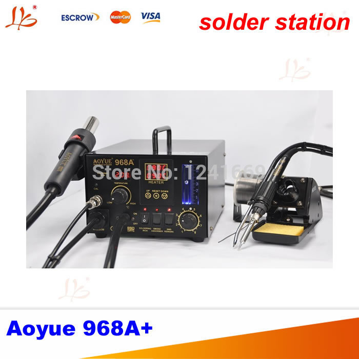 special 220V Aoyue 968A+ digital SMD solder station hot air gun 3 in 1, Aoyue968A+ Multi-function Repairing System