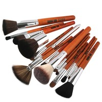 15 Pcs Makeup Brushes Professional Synthetic Hair Cosmetic Makeup Brush Foundation Eyeshadow Eyeliner Brushing Brush Kits