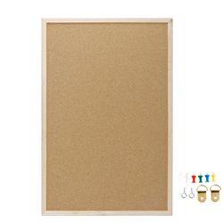 40x60 centímetros Cork Board Prancheta Frame da Madeira do Pinheiro Branco Placas de Escritório Em Casa Decorativo