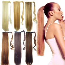 24 inch Long Straight Hair Pieces  Fake Hair Ponytail  Drawstring Ribbon Hairpiece Clip In Pony Tail Hair Extensions Multicolo