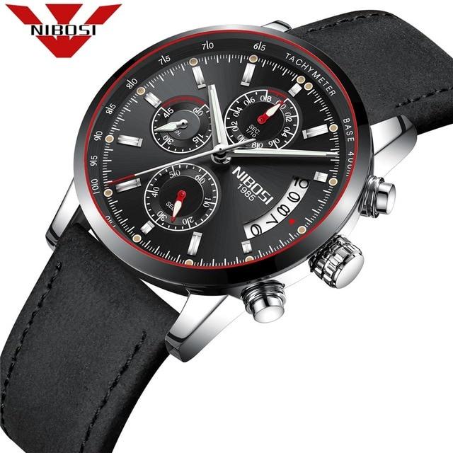8db9341ef31 NIBOSI Original Watch Men Top Brand Luxury Men Watch Leather Clock Men  Watches Relogio Masculino Horloges