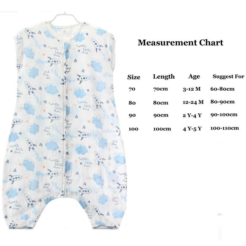 0-5Year Śpiwór dla niemowląt Bez rękawów Bielizna nocna Muślin - Pościel - Zdjęcie 2