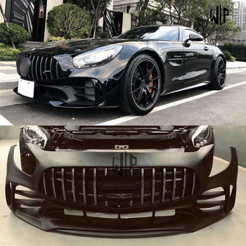 High quality Carbon fiber / FRP upainted GT GTS AMG Front Bumper For Mercedes-Benz GT GTS AMG GTR style