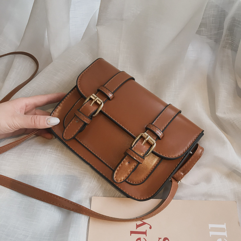 Small Crossbody Bags Girls 2019 New Vintage Handbag Retro Fashion Shoulder Bags PU Flap Casual Women Retro Hasp Messenger Bags