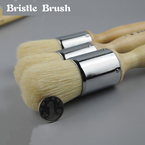 Image 2 - High Elasticity Oil Painting Bristle Hair Paint Brush Set Large Round Acrylic Painting Brush Bristle Hair Painting Supplies Etui