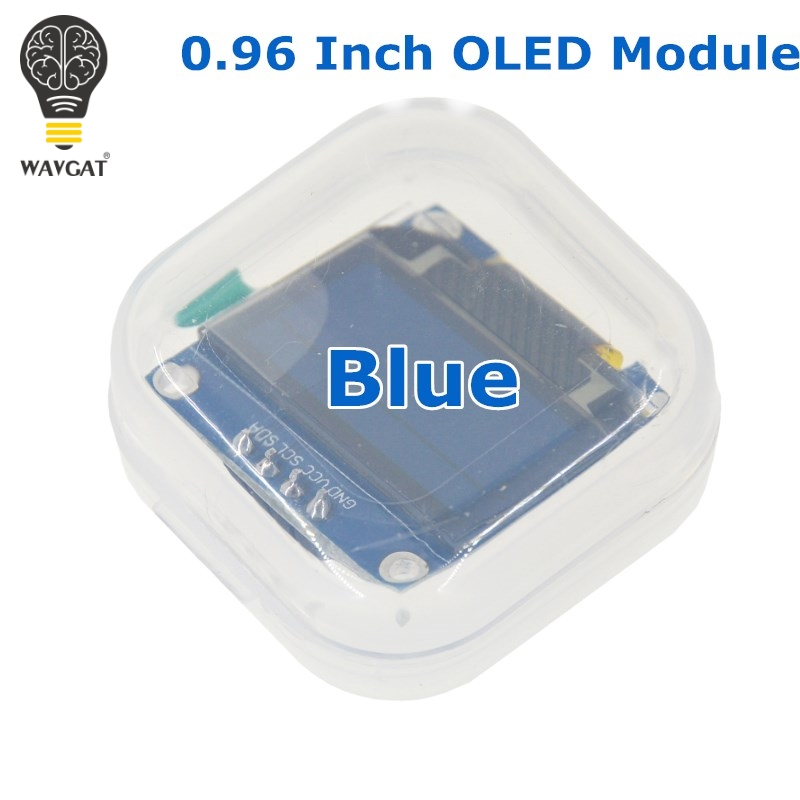 WAVGAT Blue color 128X64 OLED LCD LED Display Module For Arduino 0.96 I2C IIC Serial new original