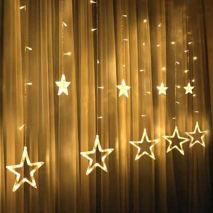 3 м Светодиодные Звездные сказочные огни Рождественская звезда светящаяся гирлянда светодиодная занавеска для свадьбы/дома/вечерние/украшения на день рождения