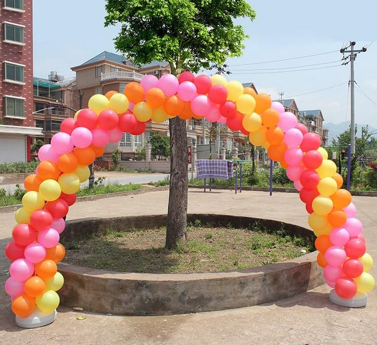 10 polos Arco De Globos de Boda Kit, Globo de la Hoja redonda de Pie ...