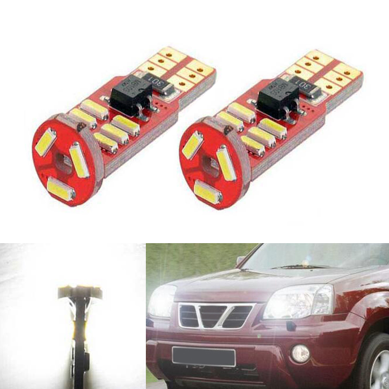 2x T10 LED W5W LED Car LED 12V Auto Lamp Clearance Light Parking For Nissan qashqai tiida new teana SYLPHY note almera juke