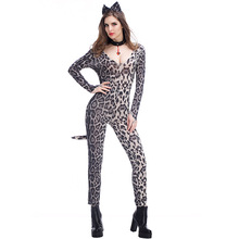e08a9cd2f8d Night Club Pole Dance Suit Stage Performance Jumpsuits Halloween Costumes  Sexy Cat Girl Cosplay Game Uniform