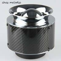 High flow Carbon fiber Universal 3'' 76mm neck, 132mm Height, Car/SUV High Flow Cold Air Intake Filter Cleaner