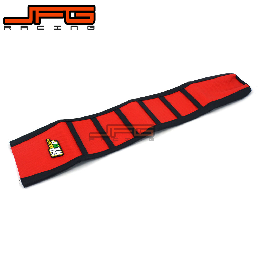 Red Pro Ribbed Griper Soft Seat Covers For HONDA CRF450X CRF450 X 2005 2006 2007 2008 2009 2010 2011 2012 2013 2014 2015 2016