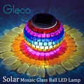 Solar Powered Mosaic Glass Ball LED Lamp Color Changing Table Lamp,Garden Solar Night Light Indoor/Outdoor Decoration idea Gifts